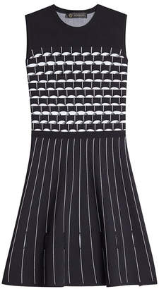 Versace Fit and Flare Dress with Cut-Out Detail