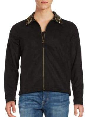 Laboratory LT Man Studded Faux Suede Jacket