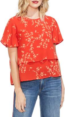 Vince Camuto Desert Ditsy Floral Print Top