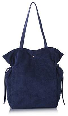 Co The Lovely Tote Women's Strap Suede Bag Side Ties Top Handle Tote