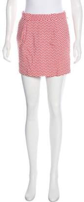 See by Chloe Chevron Mini Skirt