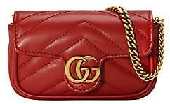 65bcb1440d94 Gucci Women's Super Mini GG Marmont 2.0 Leather Bag