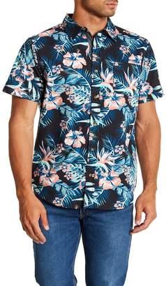 Straight Faded Hawaii Short Sleeve Modern Fit Shirt