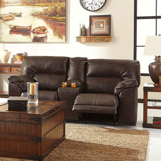 Signature Design by Ashley Barrettsville Double-Reclining Loveseat with Console