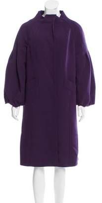 Alberta Ferretti Longline Wool-Blend Coat