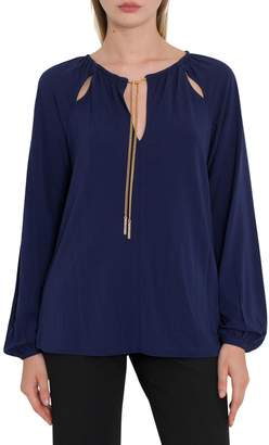 MICHAEL Michael Kors Cut-out Blouse With Chain Embellishment