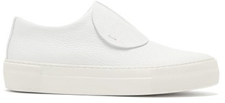 Primury - Paper Planes Slip On Leather Trainers - Womens - White