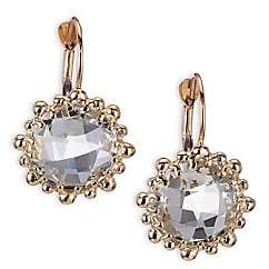 Anzie Women's Dew Drop White Topaz & 14K Yellow Gold Earrings