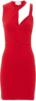 Esteban Cortazar Cutout Knit Mini Dress