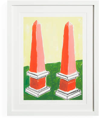 "Jonathan Adler Luke Edward Hall ""Obelisks"" Print"