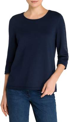 Olsen Easy Style Embellished Stretch Sweater