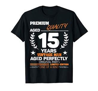 Vintage 15 Years The Man Perfectly Aged 15th Birthday Shirt