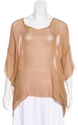 Raquel Allegra Silk Oversize Top