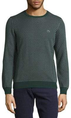 Lacoste Long Sleeve Patterned Sweater