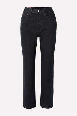 Acne Studios Mece Cropped High-rise Straight-leg Jeans - Black
