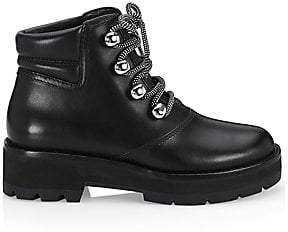 3.1 Phillip Lim Women's Dylan Leather Lace-Up Hiking Boots