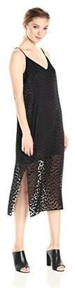Keepsake The Label Women's Lovers Burnout Sleeveless Midi Slip Dress