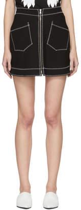 McQ Black Contrast Stitch Miniskirt