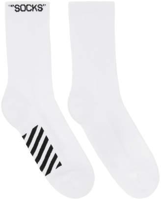 Off-White White and Black Basic Socks
