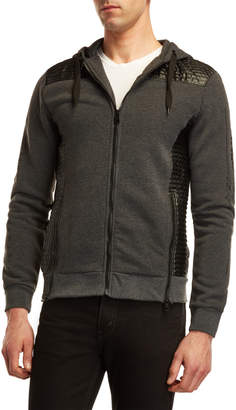 Buffalo David Bitton Moto Fleece Zip Hoodie