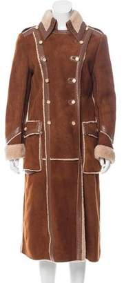 Dolce & Gabbana Long Shearling Coat