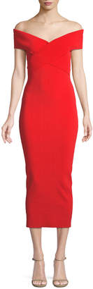 SOLACE London Cecile Off-the-Shoulder Body-Con Cocktail Dress