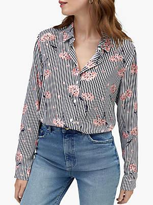 Warehouse Honey Stripe Button Shirt, Multi