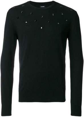 Les Hommes knit studded top