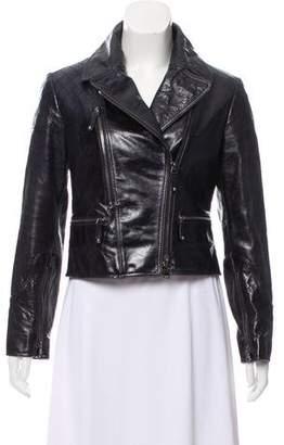 Tod's Leather Moto Jacket