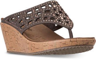 Skechers Women's Cali Beverlee - Dazzled Wedge Sandals from Finish Line
