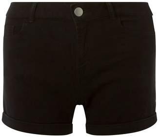 6be09dd3638d Dorothy Perkins Womens Denim Low Rise Shorts - Black