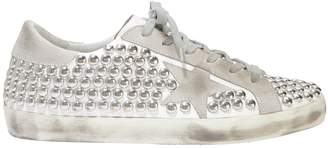 Golden Goose Superstar Silver Studded Low-Top Sneakers