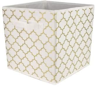 Home Basics Metallic Storage Bin