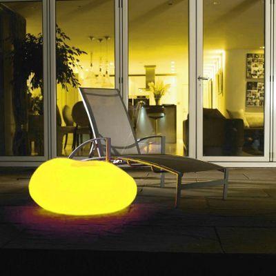 Litecraft Yellow CFL Illuminated Decorative Pebble Light