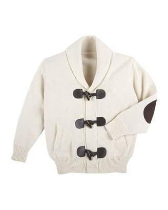 Andy & Evan Cotton Toggle Cardigan, Oatmeal, Size 2-7