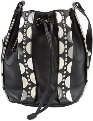Diesel Black Gold Black Leather Handbag