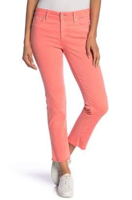 NYDJ Sheri High Waist Frayed Hem Stretch Slim Ankle Jeans