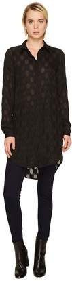 Versace High-Low Tunic Button Up