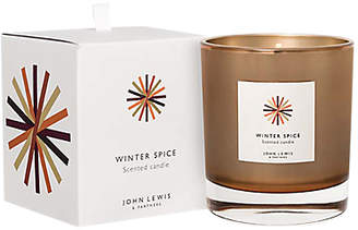 John Lewis & Partners Winter Spice Amber Candle In A Box