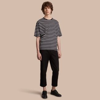 Burberry Striped Cotton Oversize T-shirt $190 thestylecure.com