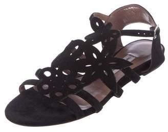 Tabitha Simmons Suede Laser-Cut Sandals