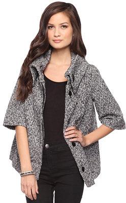 Forever 21 Wool-Blend Tweed Coat