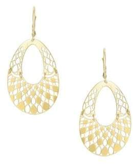 Saks Fifth Avenue 14K Yellow Gold Cut-Out Drop Earrings