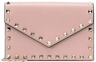 Valentino Rockstud leather clutch