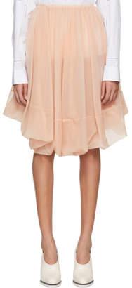 Jil Sander Pink Tulle Skirt