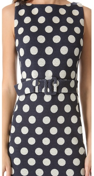 Moschino Sleeveless Polka Dot Dress