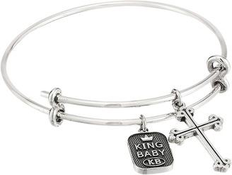 King Baby Studio - Adjustable Bangle Bracelet with Traditional Cross Charm Bracelet $245 thestylecure.com