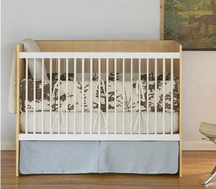 DwellStudio Baby Crib Bedding - Forest Sky Linen