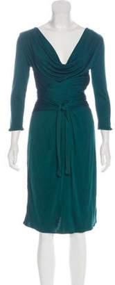 Issa Silk Long Sleeve Dress green Silk Long Sleeve Dress