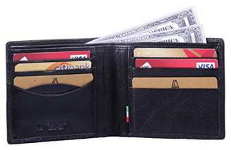 Leather Architect -Men's Real Italian Leather Bifold Slim Wallet with RFID blocking-
